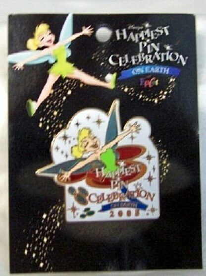 Disney WDW Happiest Pin Celebration On Earth 2005 LE 1500 Pin New On Card Front