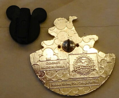 Disney WDW Ice Gator Blizzard Beach Hidden Mickey Completer Pin Back