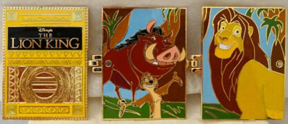 Disney WDW The Lion King Timeless Tales LE 3000 Hinged Pin New Front Fully Open