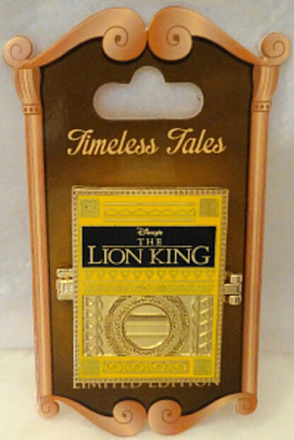 Disney WDW The Lion King Timeless Tales LE 3000 Hinged Pin New On Card Front