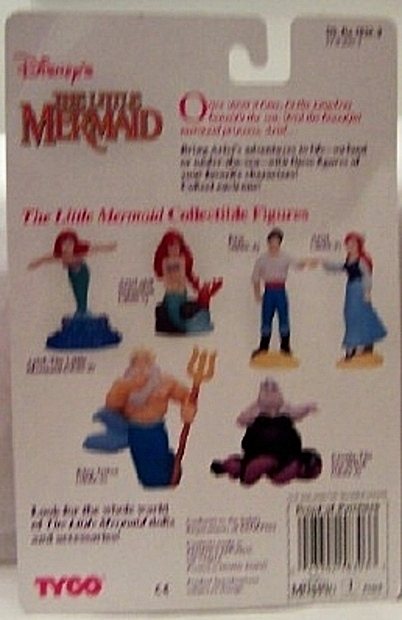 Disney Little Mermaid Ariel Collectible Tyco Figure Back