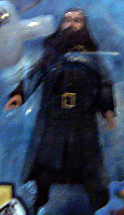 Disney Pirates of Caribbean On Stranger Tides Blackbeard Figure New In Pack Closeup Blurry Due To Never Removed From Pack