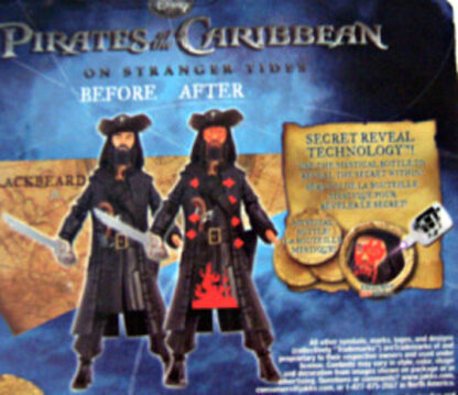 Disney Pirates of Caribbean On Stranger Tides Blackbeard Figure New In Pack Secret 1