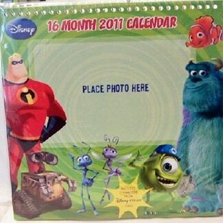 Disney Pixar Films 16 Month 2011 Wall Calendar New In Pack Front