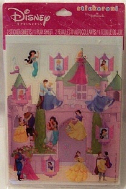 Disney Princess Stickeroni 2 Sticker Sheets 1 Play Sheet New Front