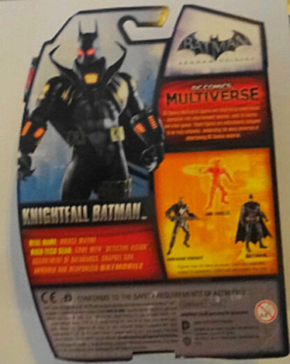 Knightfall Batman Arkham Origins DC Comics Figure New In Pack Back