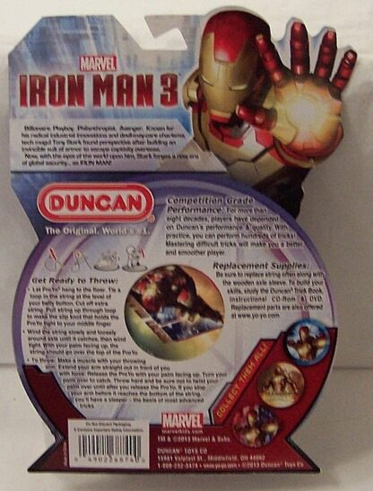 Marvel Avengers Iron Man 3 Duncan Mark 42 Proyo Yo-yo New Back