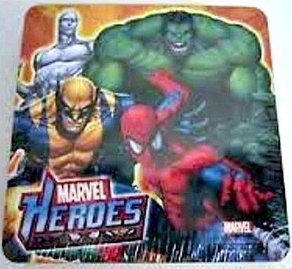 Marvel Heroes Spider-Man Hulk Wolverine Silver Surfer 6 Coasters Front