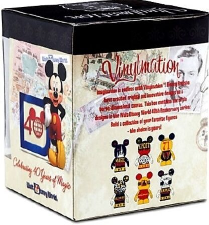 Disney Vinylmation Celebrating 40 Years Of Magic Animal Kingdom Figure New In Box Back + Side