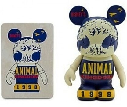 Disney Vinylmation Celebrating 40 Years Of Magic Animal Kingdom Figure New Out Of Box Collector's Card + Front Stock Photo