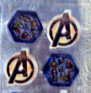 Marvel Avengers Official Movie Erasers 12 Pack Hulk Iron Man New In Pack Front