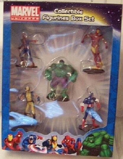 Marvel Universe Collectible Figures Box Set Spiderman Hulk Ironman Captain America Wolverine New Front