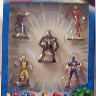 Marvel Universe Collectible Figurines Box Set Spiderman Venom Ironman Captain America Wolverine New Front