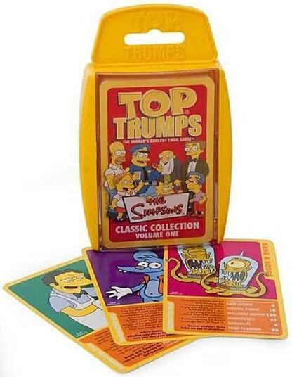 Top Trumps The Simpsons Classic Collection Vol. 1 Card Game New Stock Photo Box and Cards