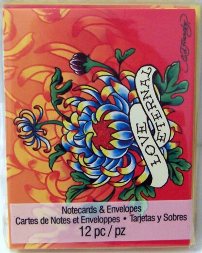 Ed Hardy Love Eternal Blank Note Cards #12 NIP Front