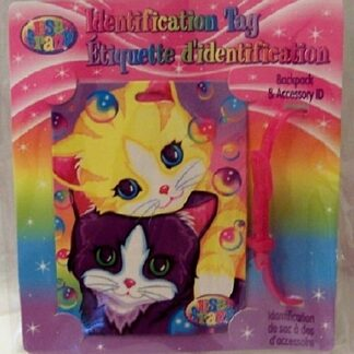 Lisa Frank Kittens Cats Identification Tag Front