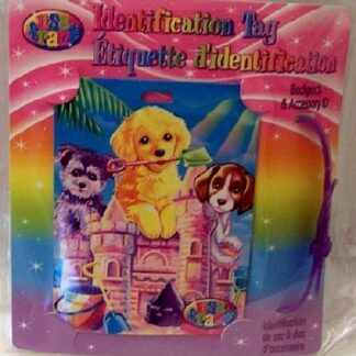 Lisa Frank Puppies Dogs Identification Tag Front