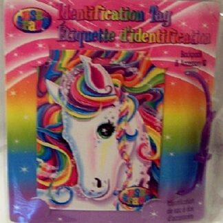 Lisa Frank Unicorn Identification Tag New Front
