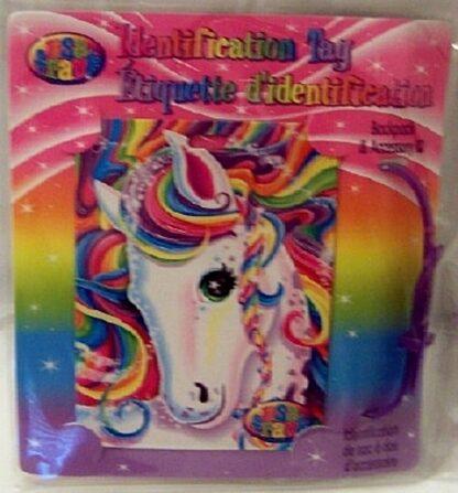 Lisa Frank Unicorn Identification Tag New Front