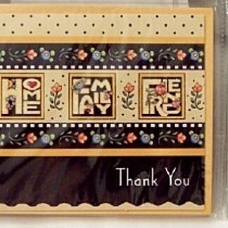 Mary Engelbreit Love Home Family Friend #8 Thank You Cards New Front