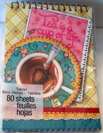 Mary Engelbreit Tea Is A Cup Of Life Spiral Tablet #80 Sheets New Front