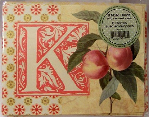 Pooch & Sweetheart K #8 Initial Note Cards New Front