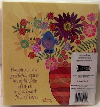 Wendy Bentley Refillable Address Book Floral Hardcover Binder New Front