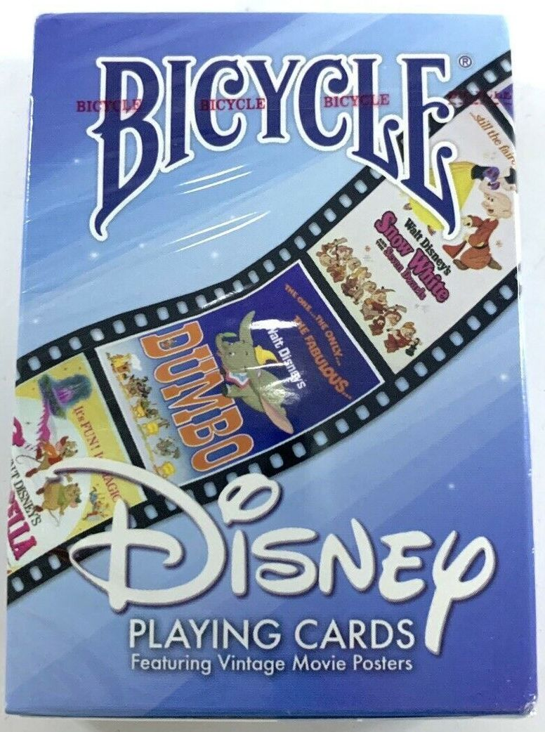 DISNEY Bicycle Collectible Playing Cards New In Pack. Featuring Vintage Movie Posters. Front