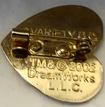 Dreamworks Shrek 2002 Pin Brooch Used Back Pin Closed