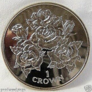 Gibraltar Roses Crown Coin 1996 Copper-Nickel Unc Front