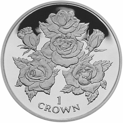 Gibraltar Roses Crown Coin 1996 Copper-Nickel Unc Front 2