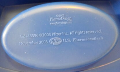 Pfizer Geodon Paperclip Holder 2003 New Back Closeup