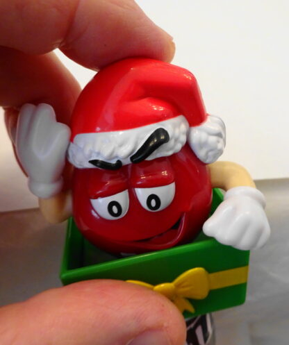 M&M'S Santa M & M'S Red Christmas Topper New Topper Moveable 1