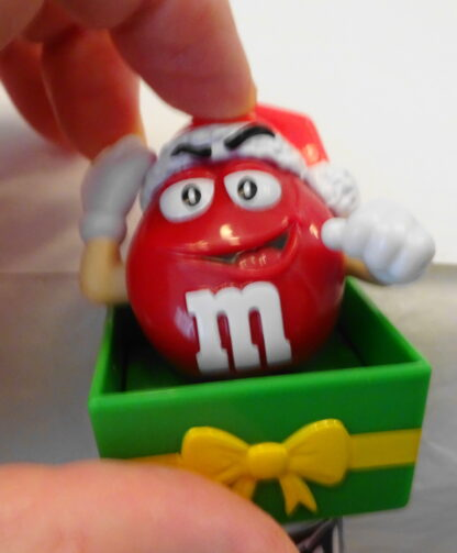 M&M'S Santa M & M'S Red Christmas Topper New Topper Moveable 2