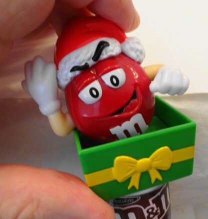 M&M'S Santa M & M'S Red Christmas Topper New Topper Moveable 3