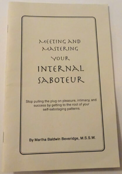 Meeting And Mastering Your Internal Saboteur Front