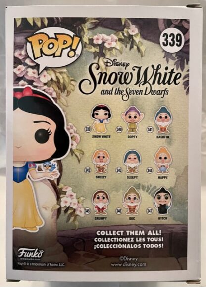 Disney Funko Snow White #339 Pop! Figure New Back