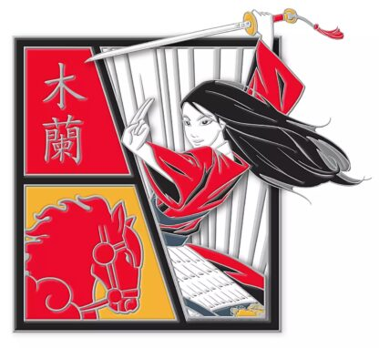 Disney Mulan Horse Pin Stock Photo