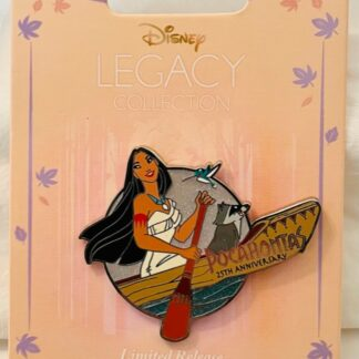 Disney Pocahontas Pin Limited 25th Anniversary New On Card Front