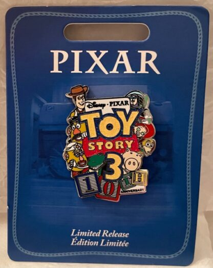 Disney Toy Story 3 10th Anniversary Limited Pin New On Card Front