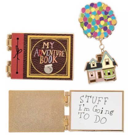 Disney UP Pin Set New With Open My Adventures Book Pin Stock Photo