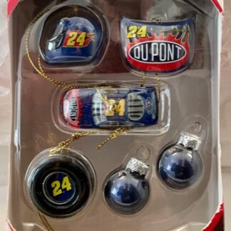 Jeff Gordon Mini Ornaments 6 Piece Set New In Box Front