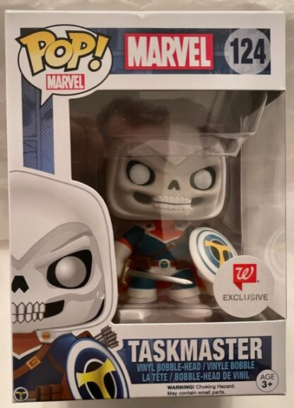 Marvel Pop Funko Taskmaster #124 algreens Exclusive New In Box Front
