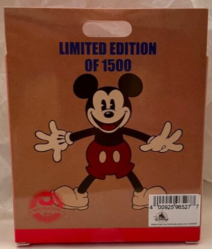 Mickey Drummer Retro Pin Limited Edition New In Special Collector's Box Back