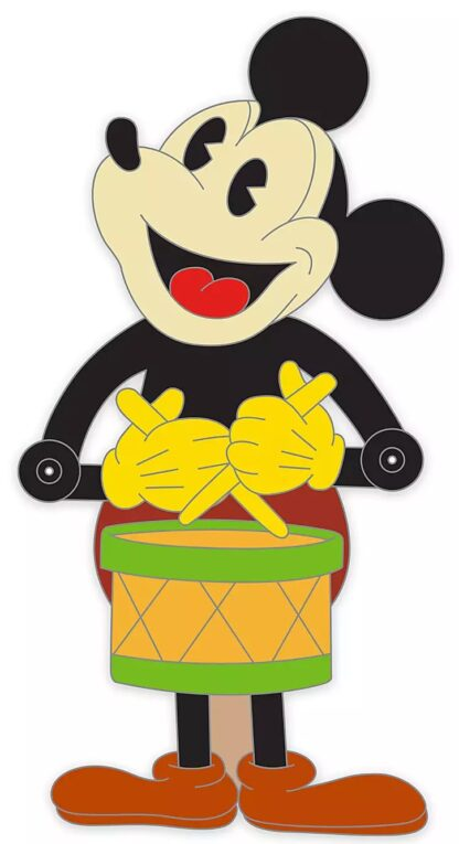 Mickey Drummer Reyro Pin Limited Edition New Stock Photo