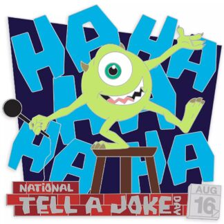 Mike Wazowski Joke Pin Monsters, Inc. National Tell a Joke Day 2020 Limited Edition Stock Photo