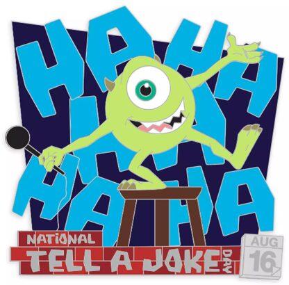 Mike Wazowski Joke Pin Monsters, Inc. National Tell a Joke Day 2020 Limited Edition Stock Photo