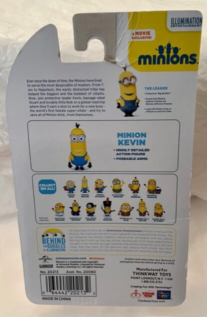 Minion Kevin Poseable Figure New In Pack Back