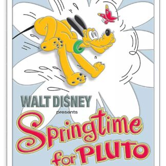 Disney Springtime Pluto Pin Limited Edition Stock Photo