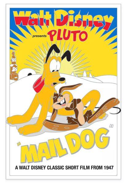 Pluto Mail Dog Pin 90th Anniversary LE Stock Photo